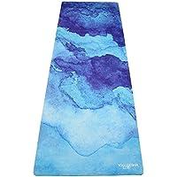 Yoga Design Lab Tapis de Yoga Commuter Mat 1.5mm par Luxueux, Léger, Antidérapant, Écologique | Adhère Mieux avec la Sueur! | Idéal pour Le Hot Yoga, Bikram, Ashtanga, Les Pilates | Sangle Incluse