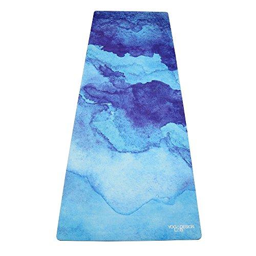 Yoga Design Lab Combo Matte 3,5mm | Rutschfest | Matte/Handtuch| Guter Halt Bei Viel Schweiß | Natürliches Baumgummi | Waschmaschinenfest | Extra Dick | Hot Yoga, Bikram, Pilates, Ashtanga (Uluwatu)