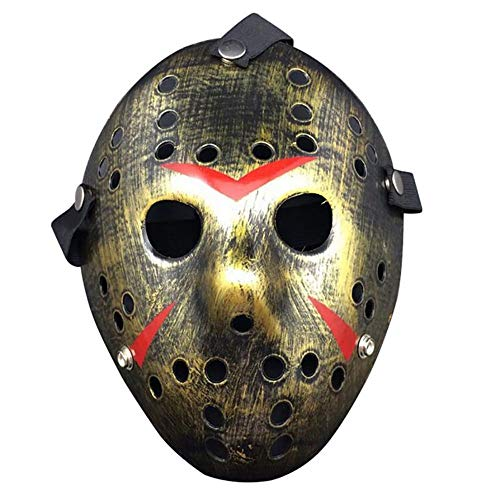 (WAJMJFFHorror HockeyKostüm Halloween Killer Maskerade Maske Halloween Maske, B)
