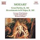 Mozart: Gran Partita / Divertimento, K. 205