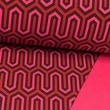Softshell Stoff Retromuster pink - Preis Gilt für 0,5
