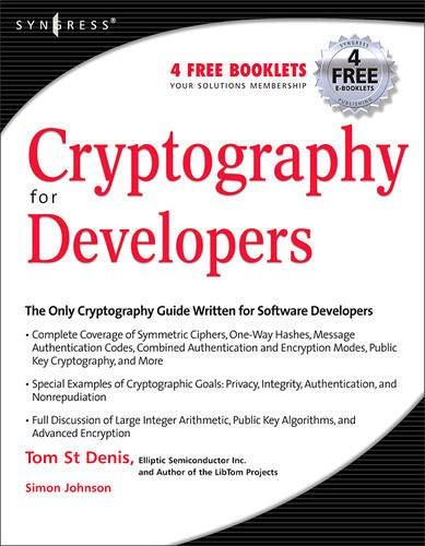 Cryptography for Developers por St Denis