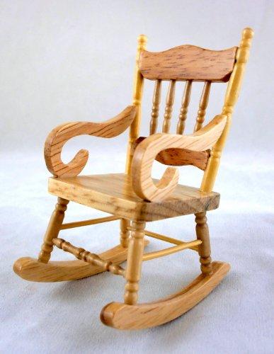 Melody Jane Miniatura Per Casa Delle Bambole 1:12 Mobili In Scala Tradizionale In Legno Quercia Sedia A Dondolo
