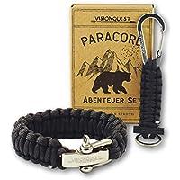 Visionquest Outdoor & Survival Paracord Armband, Schlüsselanhänger Set & Zubehör