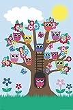 empireposter - Eulen - Eulenbaum / Owls in a tree - Größe (cm), ca. 61x91,5 - Poster, NEU -