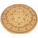 Runder Orientteppich Ziegler ca. 276 cm Ø Beige - feine Qualität - moderner Teppich - oriental round carpet Zigler best quality