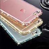 YHWW Protecteur d'écran Diamond Bling Coque Transparente pour iPhone 6 6S 8 7 Plus Coque Transparente en TPU Souple pour iPhone X XR XS Max 5 5S Se, Mauve, pour iPhone 7 Plus
