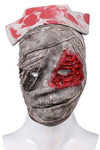 wester Nurse Maske Hellgrau Latex Maske Film Cosplay Kostüm Zubehör Merchandise für Erwachsene (Halloween Krankenschwester Zubehör)