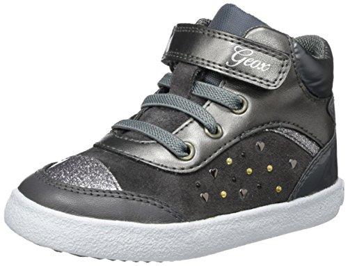 Geox Baby Mädchen B Kiwi Girl A Sneaker, Grau (Dk Grey), 26 EU