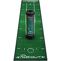 PuttOut Pro - Alfombrilla de Golf, Unisex, Put/Mat/GRN, Verde, 240 x 50 cm