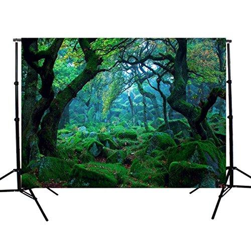 Werse 5X3Ft Natur Dschungel Wald Baum Fotografie Hintergrund Studio Requisiten