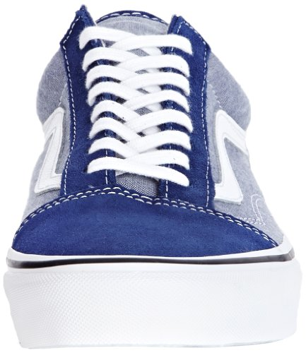 Vans U Old School (2 Tone), Baskets mode mixte adulte Suede And Chambray Estate Blue