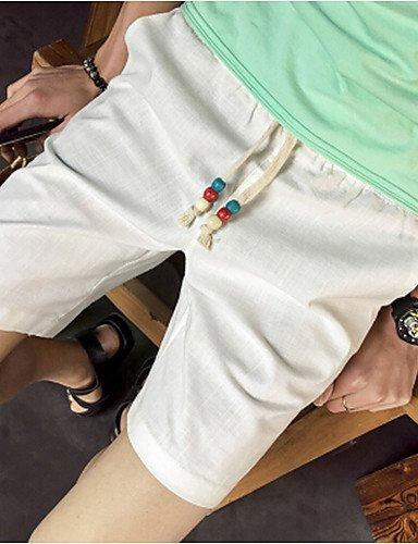 Da uomo A vita bassa Semplice Media elasticità Pantaloncini Pantaloni,Largo Tinta unita navy blue