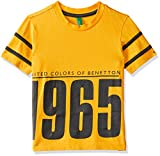#3: United Colors of Benetton Baby Boys' Plain Regular Fit T-Shirt (18A3094CCB11I_09Y_0Y_Spectra Yellow)