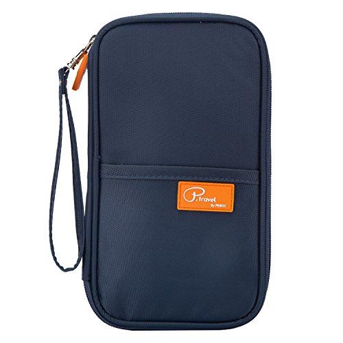 OKLM REISE-ORGANIZER Mappe Reise-Dokumente Universal-Tasche Reisepass Kreditkarten-Halter | Kleine Unisex-Clutch mit Reißverschluss-Fächern | Smartphone-Fach Test
