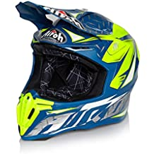 Airoh Casco Twist Iron, color azul, talla M