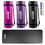 Bionix Yoga Mat Purple | Thick Exercise Foam NBR Roll with Non Slip