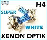 2x Stück H4 100W mit GAS - Xenon Halogen Lampen XENON OPTIK WEISS Long Life Birnen Super White Autolampen