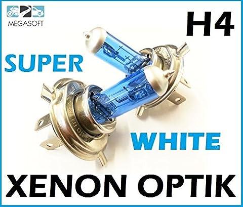 2x Stück H4 100W * 24V * Für LKW Glühlampe mit GAS - Xenon Halogen Lampen XENON OPTIK WEISS Long Life Birnen Super White