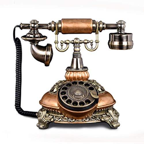 RMXMY Antikes Retro- kreatives Modeweinlesehotelzimmerfestnetz verdrahtete Telefonhauptdrehscheibenvorwahlknopf