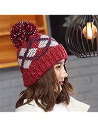 FORTR Home Gorro de algodón Gruesos Orejeras Moda otoño e Invierno de Punto  Grueso para Mujer ff28cc0a901