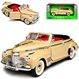 Welly Chevrolet Special Deluxe 1941 Cabrio Creme Weiss 1/24 Modell Auto mit individiuellem...