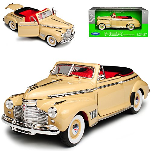Cabrio Creme (Welly Chevrolet Special Deluxe 1941 Cabrio Creme Weiss 1/24 Modell Auto)