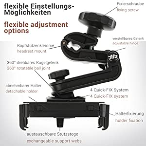 honju Game Auto Halterung für Nintendo Switch (Made in Germany) Vibrationssicher, Zugang zum Ladeanschluss, Keine Behinderung der Abluft