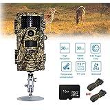 HUAXING CT Jagdvideo Kamera 20MP 1080p 30fps Trail Kamera Farm Security 0.4s Trigger Time Wildlife Hidden Photo Trap,16G