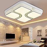 Wohnzimmer Beleuchtung Fabrik Großhandel LED Deckenleuchte Acryl rechteckigen Wohnzimmer Schlafzimmer Beleuchtung Kosten Preis begrenzte Fläche, weiß, 68 * 68CM