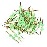 ca. 50Rose Schleife Geschenk Verpackung Metallic Twist Krawatten für Party Bakery Cookie Candy Taschen grün