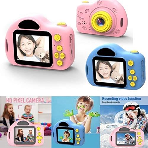 Sliwei Mini Fotocamera Digitale per Bambini - Videoregistratore con Schermo da 2 Pollici Videocamera Digitale Regali di Natale per Giochi all'aperto per Bambini di 4-8 A