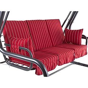 PATIO Auflagen Set Rimini/Venezia 180 cm / 3×60 cm Polster für 3- Sitzer 4- Sitzer Hollywoodschaukel Schaukelauflage…