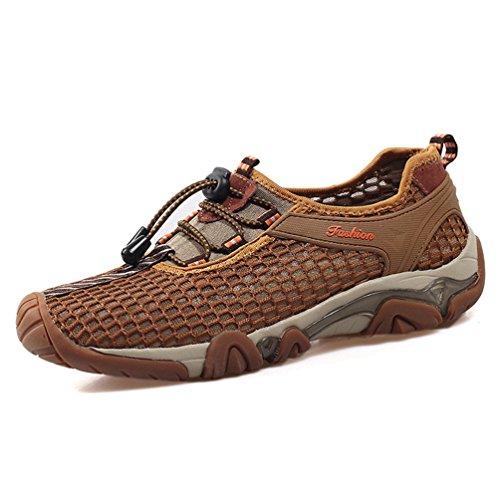 XIGUAFR Homme Chaussure D'Escalade Printemps Été Antidérapant Chaussure de Maille de Sport Outdoor