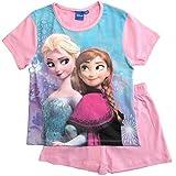 Frozen Pyjama Kollektion 2018 Ökotex Standard 100 Die Eiskönigin 98 104 110 116 122 128 Schlafanzug Shortie Kurz Anna Elsa Shorty (Rosa, 128)