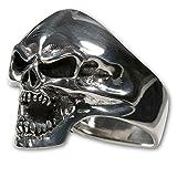 Fly Style Totenkopf Ring Edelstahl Herren Damen Schmuck Farbe silber risst028, Ring Grösse:21.0 mm