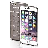 iPhone 6S Plus Hülle Silikon Transparent Schwarz [OneFlow Cube Back-Cover] Ultra-Slim Silikonhülle...