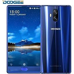 Cellulare SIM Free, DOOGEE Mix Lite 4G Smartphone , Android 7,0 Telefono-2GB di RAM + 16GB ROM - Doppia Fotocamera da 13.0 MP + Fotocamera Anteriore da 8.0 MP - 3080 mAh- Impronte Digitale - BLU
