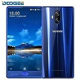 Telephone Portable Debloqué, DOOGEE MIX Lite Smartphone 4G Pas Cher sans Forfait (Écran: 5,2 Pouce - MT6737 Quad Core - 2Go + 16Go - 13MP+13MP Double Caméras - Empreinte Digitale - Double SIM - Android 7.0) Bleu