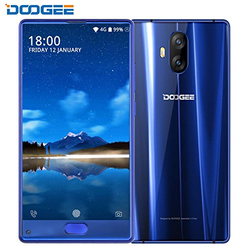 Smartphone ohne Vertrag Günstig, DOOGEE MIX Lite 4G Dual SIM Handys, 5.2 Zoll Android 7.0 HD IPS Handy, MT6737 2GB RAM+16GB ROM, Dual 13.0MP Rear Kamera +8.0MP Front Kamera, 3080mAh, FingerabdruckSensor, Bluetooth,GPS- Blau