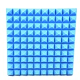 wonderfulwu Akustische Schaum Platte, Akustik-Schaumstoff Aufkleber, Schallabsorption Pyramide Studio Behandlung Wand Paneele, 50x 50x 5cm, 1PCS/6PCS 1PCS blau