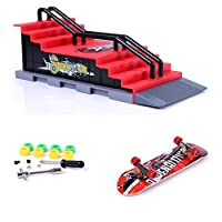 Fancyus Mini Finger Skateboard and Ramp Accessories Set