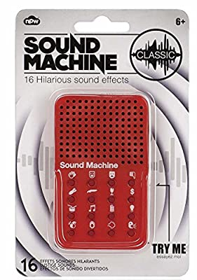 NPW Máquina de efectos sonoros - Juguete de pedos de broma - Rojo de NPW