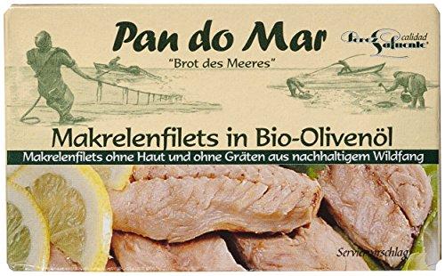 Pan do Mar Makrelenfilets in Bio Olivenöl, 5er Pack (5 x 120 g)