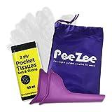 Frauen Urinal Pinkelhilfe Unterwegs Kit - mit Wasserdichten Urinbeutel, 2X Urin-Trichter, 1x Packung der Taschentücher & Hygienische Einweghandschuhe - Urinella/Pinkeln im Stehen für Frauen
