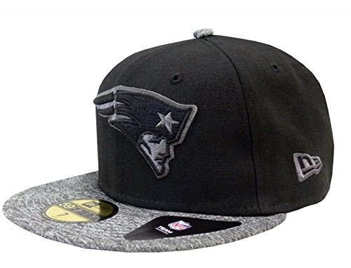 NEW ERA Baseball Cap 59FIFTY New England Patriots grey collection Gr. 7 1/8 (Feld 59fifty Hat)