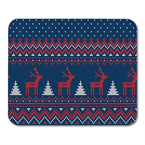 Mouse Pads Jumper Knit Knitted Christmas and New Year Pattern Fairisle Holiday Mouse Pad -