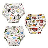 Aolawu Baby Boy Girl potty training pannolino pantaloni 3 confezione di cotone a tenuta brevi mutandine Cartoon Trainer shorts