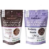 Rawcology - 2 Granola Keto Pack | Cioccolato Mirtilli | 100% Organico & Naturale | Granola Healthy | Senza zuccheri…