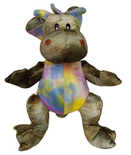 Stuffems Toy Shop Nehmen Sie Ihre eigene Plüsch 16 Zoll Lila & Green Dragon - Ready 2 Liebe in EIN Paar einfachen Schritten - Baby-schritte Tie Dye